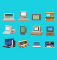 computer technology evolution display vector image vector image