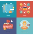 construction and building icons set vector image vector image