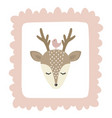 cute with deer baby for baby vector image