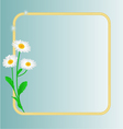 Daisy spring flower blue background vector image vector image