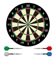 Dart board with darts vector image vector image