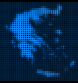 dotted pixel greece map vector image