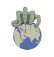 earth in danger vector image vector image