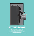 Fitting Room Black Graphic vector image vector image