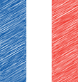 Flat Hand Draw Sketch Flag of France vector image