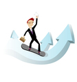 Forward to success vector image vector image