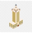 freedom tower in miami isometric icon vector image vector image