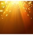 Golden underwater abstraction vector image vector image