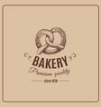 hand drawn pretzel isolated bakery product