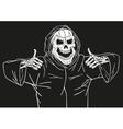 Happy dead smiles vector image vector image