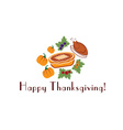 happy thanksgiving with pieturkey and pumpkins vector image vector image