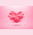 happy valentines day with heart balloon shape vector image vector image