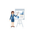 hipster businesswoman giving a presentation vector image
