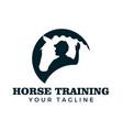 horse training logo design vector image