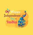 india happy independence day colorful poster vector image