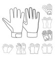 isolated object of glove and winter sign vector image