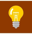 Light Bulb Shape as Inspiration Concept Flat Icon vector image vector image