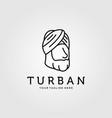 line art turban minimalist logo design vector image