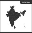 Map of india and sri lanka vector image