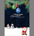merry christmas background 5 vector image