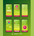 mobile ui ux template mockup - wireframe vector image vector image