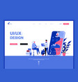 modern flat web page design template concept vector image vector image