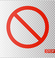 prohibition road sign stop icon no symbol dont vector image