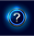 question mark symbol with blue lights background vector image