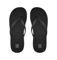realistic 3d black blank empty flip flop vector image