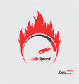 red fire speedometer scale vector image vector image