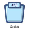 scales icon cartoon style vector image vector image