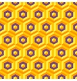 Seamless abstract 3d texture with hexagonal vector image