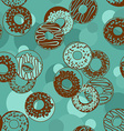 Seamless pattern of donuts vector image vector image