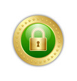 secure transaction or connection padlock icon vector image vector image
