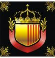 shield and crown vector image vector image