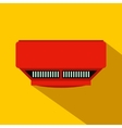 Smoke detector flat icon vector image vector image
