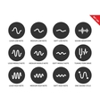 Sound waves set icons on white background vector image vector image