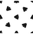 three tags pattern seamless black vector image