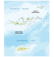 united states and british virgin islands map vector image vector image