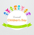 Universal Children day poster vector image
