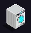 washing machine icon isolated on light back vector image vector image
