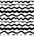 wavy hand drawn seamless pattern vector image