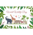 wild life day composition vector image