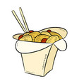 wok box icon vector image