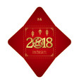 year of the dog chinese new year square money red vector image vector image