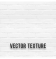 White brick wall seamnless texture vector image