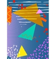 Colorful trendy Neo Memphis geometric poster vector image