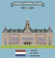 Town Hall Rotterdam vector image