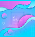 abstract blue and pink gradient color fluid flow vector image vector image