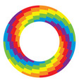 background of round wheel circle with rainbow vector image vector image